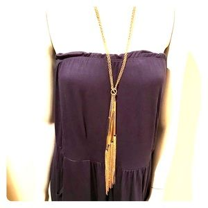 Gold mixed media necklace H&M great item